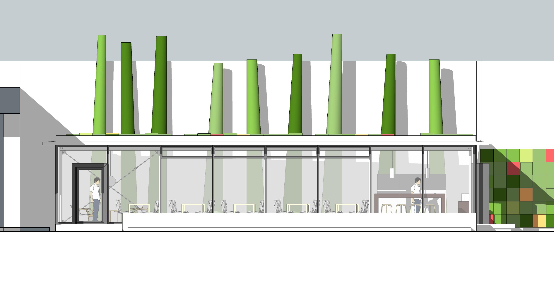 S23 reformas cafeter a arquitectura uah alzado - Alzado arquitectura ...